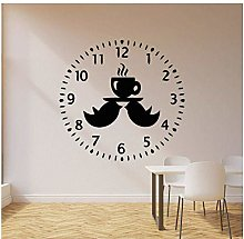Vinyl Wall Decal Clock Bird Relax Time Drinking
