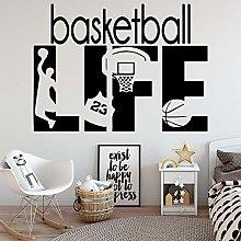 Vinyl Wall Sticker Creative Basketball Life NBA