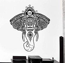 Vinyl Wall Sticker Elephant African Flower Animal