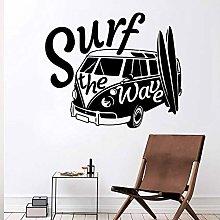 Vinyl Wall Sticker Surfing Wavy Beach Extreme