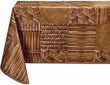 Vinylla Bamboo Easy Wipe Clean Vinyl Tablecloth