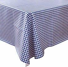 Vinylla Blue Check Easy Wipe Clean Vinyl Tablecloth