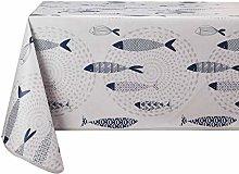 Vinylla Fish Easy Wipe Clean Vinyl Tablecloth