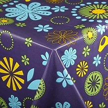 Vinylla Floral Purple Easy Wipe Clean PVC