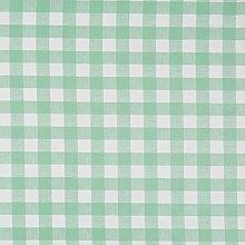 Vinylla Gingham Check Green Vinyl Coated Cotton