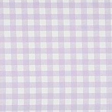 Vinylla Gingham Check Lilac Vinyl Coated Cotton