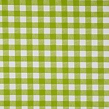 Vinylla Gingham Check Lime Green Vinyl Coated