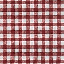 Vinylla Gingham Check Red Vinyl Coated Cotton Easy