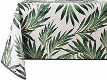 Vinylla Leaf Easy Wipe Clean Vinyl Tablecloth