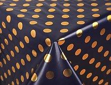 Vinylla Metallic Gold Polka Dot on Navy Easy Wipe