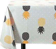 Vinylla Pineapple on Grey Polka Easy Wipe Clean