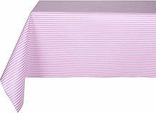 Vinylla Pink Stripes Easy Wipe Clean PVC Tablecloth