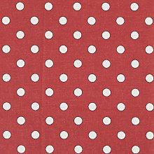Vinylla Polka Dot Burgundy Vinyl Coated Cotton