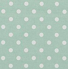 Vinylla Polka Dot Duck Egg Vinyl Coated Cotton
