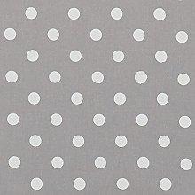 Vinylla Polka Dot Silver Vinyl Coated Cotton Easy
