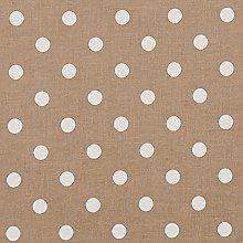 Vinylla Polka Dot Taupe Vinyl Coated Cotton Easy