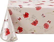 Vinylla Poppy Easy Wipe Clean Vinyl Tablecloth