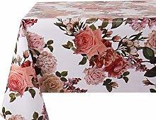 Vinylla Roses Easy Wipe Clean PVC Tablecloth