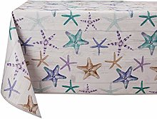 Vinylla Starfish Easy Wipe Clean Vinyl Tablecloth