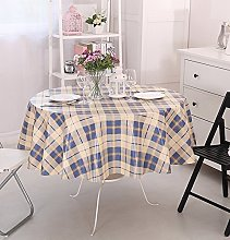 Vinylla Tartan Blue Easy Wipe Clean PVC Tablecloth