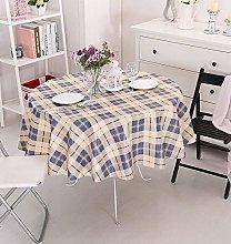 Vinylla Tartan Blue Easy Wipe Clean PVC Tablecloth