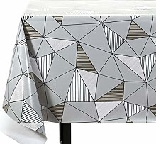 Vinylla Triangle Easy Wipe Clean PVC Tablecloth
