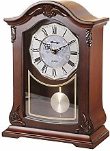 Vioaplem Bracket Clock Retro Desk Clock Mute