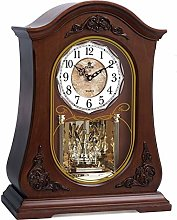 Vioaplem end Wooden Desk Clock Silent Quartz