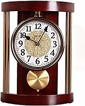 Vioaplem European Retro Solid Wood Table Clock