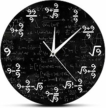 Vioaplem Math Equation Wall Clock The Clock Of 9s