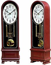 Vioaplem Pendulum Desk Clock Chinese Solid Wood