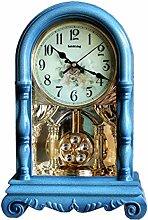 Vioaplem Retro Pendulum Desk Clock Large Desk