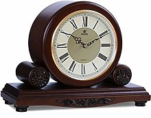 Vioaplem Solid Wood Table Clock Silent Quartz