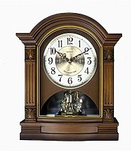 Vioaplem Solid Wood Timing European Clock Mute