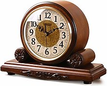 Vioaplem Timer Function Solid Wood Clock Classical