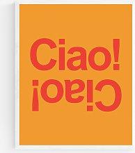 Violet Studio - 'Ciao' Wood Framed Print,