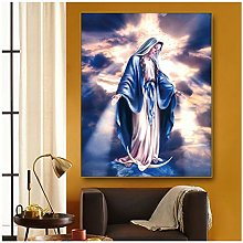 Virgin Mary Decoration Canvas Painting Calligraphy