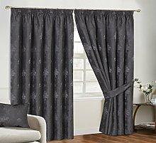 Virginia Curtain Pairs Jacquard Pencil Pleat With
