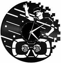 Virtual vinyl wall clock, vinyl record home