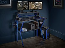Virtuoso Outlaw Gaming Desk - Black & Blue
