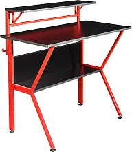 Virtuoso Outlaw Gaming Desk - Black & Red