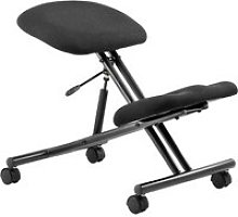 Visby Kneeling Chair, Black, Free Express Delivery