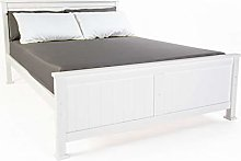 Visco Therapy Madrid Solid Wooden White Bed Frame