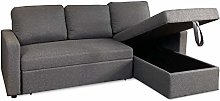 Visco Therapy Reegan L Shaped Corner Sofa Bed in