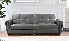 Visco Therapy Zinc PU Leather 3STR Sofa Bed with