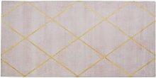 Viscose Area Rug 80 x 150 cm Rectangular Gold