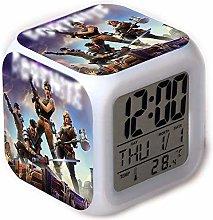 Visiondeals 7 Colors LED Alarm Clock, Digital