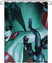 Visionpz Bathroom Curtain Suicide Squad Harlequin