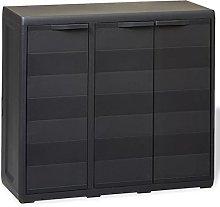Vislone Garden Storage Cabinet Padlock Cabinet