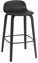Visu Bar stool - / Wood - H 65 cm by Muuto Black